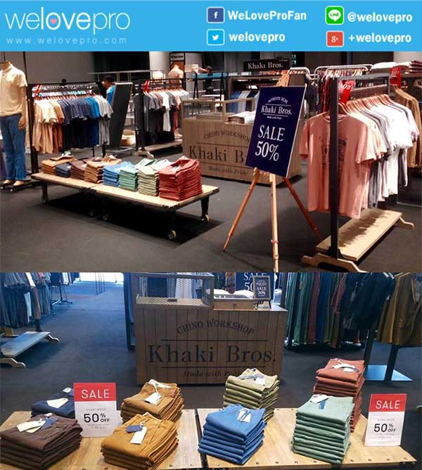 Khaki Bros. Casual Menswear Sales ลด 50%