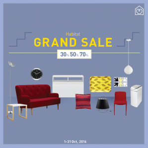 Habitat Grand Sale Once a year grand sale up to 70%off. Don't miss !!