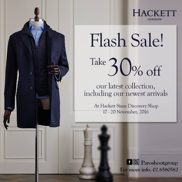 HACKETT FLASH SALE!